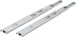 Jdel 抽屉滚珠轴承滑轨导轨 14 英寸(约 35.6 厘米)镀镍钢附加组件。总H35 350 毫米负载*大35 千克。镀锌2 件装,镍色,35 厘米