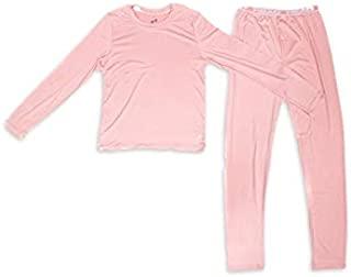 女孩保暖内衣底层 - 高性能 2 件套衬衫和裤子温暖舒适