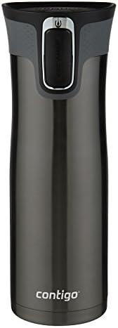 Contigo Autoseal 西環真空絕緣不銹鋼旅行杯,20盎司,黑色