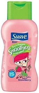 Suave 儿童洗发露/护发素 2 合 1 ,Fairy 浆果草莓顺滑剂,12 盎司(6 瓶装)