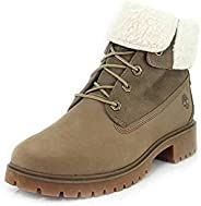 Timberland Jayne 女式時尚防水羊羔毛反折式踝靴