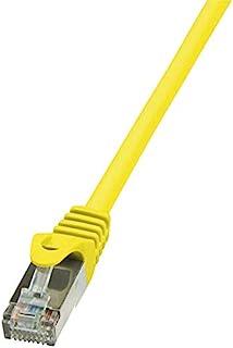 Logilink CP1027D CAT5e SF/UTP 接插线,0.5 米长,黄色,黄色,0.5 米长