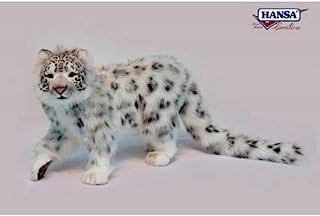 Hansa 站立式豹纹长毛绒玩具,78 厘米