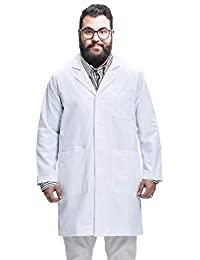 Dr. James 高大实验室外套,经典款,智能手机和平板电脑口袋,白色,40 英寸长