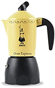 Bialetti Musa Satinata 浓缩咖啡机,铝材质,黄色