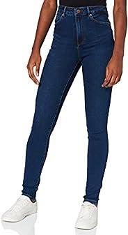 VERO MODA 女式紧身牛仔裤VMSOPHIA 高腰 XL30深蓝色牛仔布