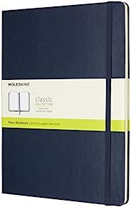 Moleskine 硬面纯白宝蓝色笔记本 (加大型)