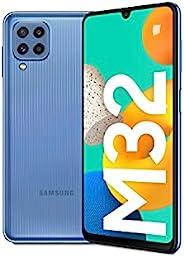 三星 Galaxy M32 手机无合同智能手机 128 GB 6.4 英寸 安卓手机 蓝色