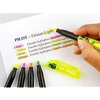 PILOT FriXion Light Soft 可擦除文本标记笔 5 萤光黄