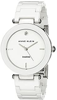 Anne Klein AK / 1019WTWT 女士镶钻陶瓷手链,White,均码
