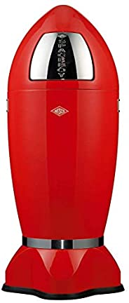 Wesco Spaceboy Waste Can, X-Large, 9.2-Gallons, Red