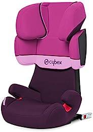 CYBEX Silver Solution X-Fix 儿童汽车座椅,适用于带或不带 ISOFIX 的汽车,2/3 组(15-36 千克),约 3 至 12 岁,紫色雨