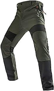 Jessie Kidden 男士防水徒步裤,户外雪地滑雪钓鱼羊毛衬里保暖软壳冬季裤