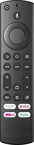 Insignia NS-RCFNA-19 / Toshiba CT-RC1US-19 语音遥控器,适用于 32LF221U19 43LF421U19 43LF621U19 49LF421U19 50LF621U19 55
