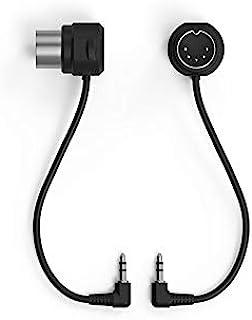 WIDI TRS 2.5 毫米至 5 针 DIN MIDI 电缆(B 型)配件选项套装(2 个)2.5 毫米(3/32 英寸)公头 TRS MIDI 至 5 针 DIN 公头 MIDI 10 厘米适用于 CME WIDI 插孔蓝牙 MIDI 接口