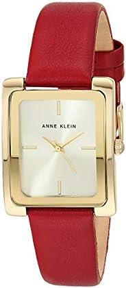 Anne Klein 女士皮革表带手表,AK/2706