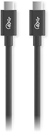 Elecom 宜丽客 USB4 TypeC-TypeC USB‐IF正规认证品 PD对应 40Gbps 0.8m 黑色 USB4-CC5P08BK