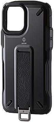 Elecom 宜丽客 iPhone 12 / 12 Pro 手机壳 混合动力 耐冲击 NESTOUT Trekking 黑色 PM-A20BNESTTBK