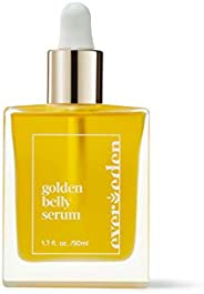 Evereden Golden Belly Serum 孕产后女性身体护理清洁,1.7 液体盎司,50毫升 | 天然植物性护肤 | 无害
