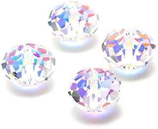 施华洛世奇 - 创造您的风格 47844193 4 件透明 AB Briolette 施华洛世奇玻璃珠