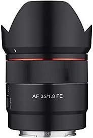 Rokinon 35 毫米 F1.8 自动对焦紧凑型全框广角镜头,适用于索尼 E 支架,黑色