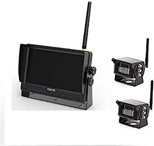 "Ares Vision 7"" Vehicle Monitor & Wireless Camera Bundle 2.4GHZ 自动 黑色 2 Cameras"