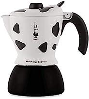 Bialetti 比乐蒂 Mukka Express 咖啡煮壶 铝制,21.3 x 17.5 x 13,黑色/白色