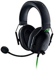 Razer 雷蛇 BlackShark V2 X 游戏耳机:7.1 环绕声 - 50 毫米驱动器 - *海绵缓冲垫 - PC,PS4,PS5,Nintendo Switch,Xbox One,Xbox 系列 X 和 S,