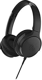 Audio-Technica ATH-AR3iSBK SonicFuel 头戴式耳机带麦克风和控制,黑色ATH-AR3ISBK 头戴式耳机