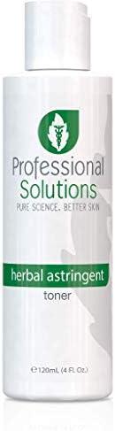 Professional Solutions 草本收敛爽肤水   平衡与*   面部皮肤保湿霜   天然吸敛剂   无酒精   减少油性面部*   男士,女士,青少年