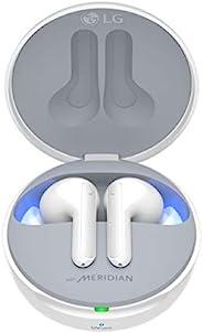 LG Tone Free HBS-FN7W 真正的无线耳机(主动降噪,中音,蓝牙5.0,带UVnano清洁的充电盒,快速充电和Google 语音命令),白色