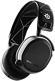 SteelSeries 赛睿 Arctis 9 - 双无线游戏耳机 - 无损 2.4 GHz 无线 + 蓝牙 - 20 小时以上电池寿命 - 适用于 PC、PlayStation 5 和 PS4,黑色