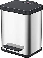 Hailo 脚踏式垃圾桶 不锈钢 (17L×1) 环保 60099