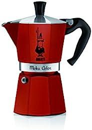 Bialetti Moka Express Stovetop Percolator 红色 6 Cups 20002033