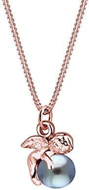 Elli 女士项链 带吊坠 天使淡水养殖珍珠 玫瑰银 925