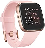 Fitbit Versa 2 Health & Fitness Smartwatch with Voice Control, Sleep Score & Music, Petal/Cop
