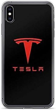 iPhone 12 Pro 纯透明手机壳保护套特斯拉红色徽标
