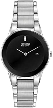Citizen 西铁城 光动能女式 Axiom - 不锈钢表链和表壳 - 黑色表盘 - 日期
