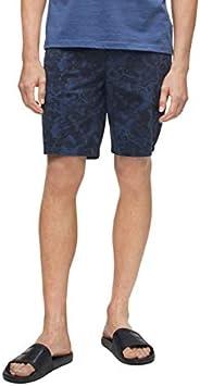 Calvin Klein 男士休闲斜纹印花短裤