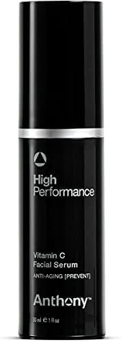Anthony Logistics 男士高性能维生素 C 精华液,1 液体盎司 盎司。
