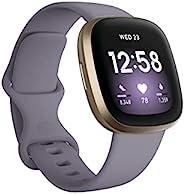 Fitbit 中性青少年Versa 3 活动追踪器,软金/粉红色,均码