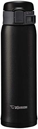 ZOJIRUSHI 象印 不锈钢水杯 直饮 轻巧 保冷保温 一触开启型 哑光黑 480ml SM-SE48-BZ