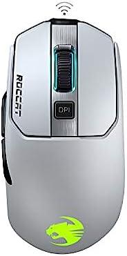 Roccat Kain 202 AIMO RGB 游戏鼠标(16.000 DPI 猫头鹰眼传感器,无线,钛点击技术,白色