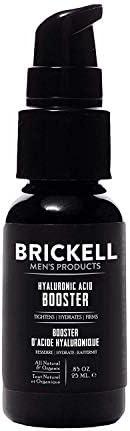 Brickell 男士透明质酸助推精华素,天然*透明质酸助推器,用于面部保湿和滋养皮肤,减少细纹和皱纹,0.5 盎司(约 15.6 克)(无香味,82 盎司)