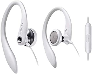 Philips 飞利浦 SHS3305WT 柔软耳挂式耳机 带麦克风 白色