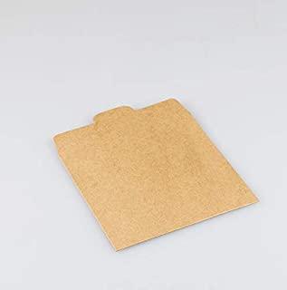 """50 张牛皮纸卡片信封,50 英寸(约 127.6 厘米)请不要弯曲或折叠""""贴纸,50 张密封贴纸"""