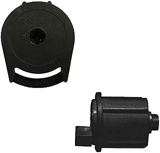 RollEase R3-1 英寸(约 2.5 厘米)卷帘离合器 (R3C02BK) 和端针 (REP02BK) 套装,黑色