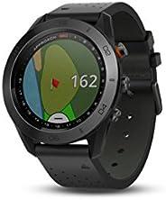 GARMIN 佳明 APPROACH S60高尔夫 GPS 腕表,黑色皮质表带 1.2 英寸(约 3 厘米) black leather band 1.2 inches