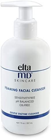 EltaMD 泡沫洁面乳 温和 无油 无防腐剂 专业人士推荐 含酶和氨基酸 7.0盎司(207ml)