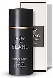 Boy De Blanc 男士面部舒缓保湿霜 多合一精华精华 含植物成分 - 不油腻 快速吸收 - 3.5 液盎司泵型